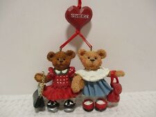 Collectible Holly Bearies SIsters Ornament Santas World Kurt S. Adler without bx