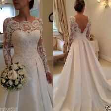 New Lace White/ivory Wedding dress Bridal Gown Stock size 6/8/10/12/14/16++++++