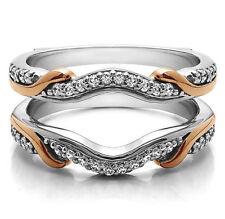 Diamond Enhancer Contour Engagement Ring 0.26 ct 925 Silver Guard Wrap Jacket