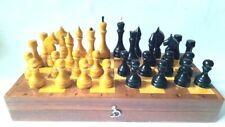 Vintage Soviet Wooden Chess USSR  Full Set.32 X 32 cm