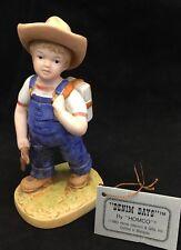 "Denim Days ""Danny"" Boy Back to School Porcelain Figurine #1513 Homco 1985"