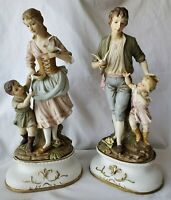 Large Pair Ardalt Lenwile China Bisque Porcelain Figurines 15""