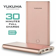 Yukuma Portable Power Bank World's Fastest Recharge 30 Minutes 10000 mAH - Rose