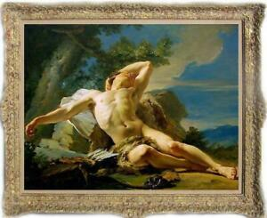 """Old Master-Art Antique Oil Painting Portrait male nude on canvas 30""""x40"""""""
