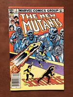The New Mutants #2 (1983) 8.5 VF Marvel Bronze Age Comic Newsstand Edition