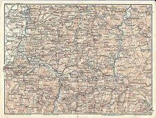 Carta geografica antica LANGHE MONDOVI' VALLE BORMIDA Cuneo 1914 Old antique map