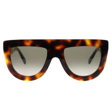 Celine Andrea Flat Top Sunglasses in Havana CL 41398/S