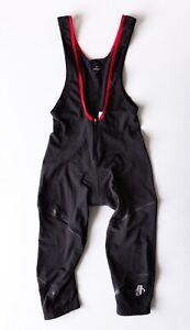 Men's Hincapie Black & Red Padded Cycling Bib Pants Tights Size Small