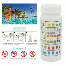 50X 6 In1 SPA Swimming Pool Test Strips Chlorine pH Alkalinity Water Hardness