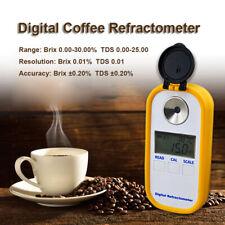 Pocket Digital Refractometer Coffee Brix 0-30% and TDS 0-25% Cafe Densitometer