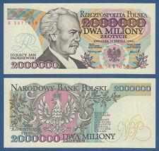 POLEN / POLAND 2.000.000 Zlotych 1992 UNC  P.158 b