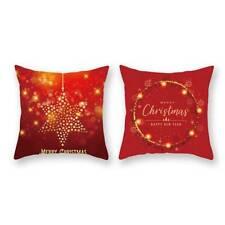 Xmas Merry Christmas Bronzing Pillowcase Gold Super Soft Car Cushion Cover Y2