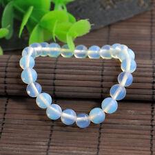 Handmade Natural Gemstone Opal Moon Round Beads Stretch Bracelets 6mm 8mm 10mm