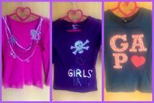 Filles gap 3 T-shirt Homme Taille M Âge 8-9 Ans Rose Bleu Violet Libre p&p