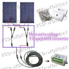 2-Panel Connector Y Branch Solar Extension Cable MC4 Connector for Solar Array