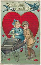 VALENTINE'S DAY – Children and Birds Poetic Postcard