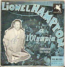 """LIONEL HAMPTON """"A L'OLYMPIA"""" 50'S EP VERSAILLES 122, 1ere édition !"""