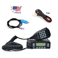 Min Car Mobile Radio Dual Band VHF/UHF 136-174/400-470MHz Transceiver +USB CABLE