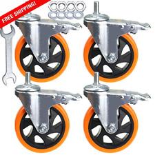 Stem Casters Heavy Duty Swivel Threaded Stem Caster Wheels With 5 Inch 4pcs
