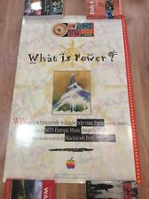 Rare APPLE MTV EUROPE AWARDS PARIS Original Vintage 1995 DUTCH Advert Poster