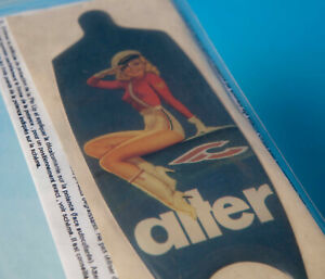CINELLI FUNNY ALTER 120/130mm STICKER PIN UP ADESIVO NUOVO red NEW OLD STOCK