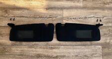 BMW E46 3 SERIES COUPE SUN VISOR BLACK PAIR PASSENGER/DRIVER OS/NS