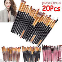 UK 20 pcs/set Makeup Brush Set tools Make-up Toiletry Kit Wool Make Up Brush Set