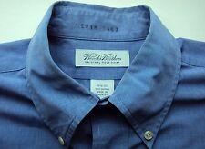 Mens Brooks Brothers Original Polo 100% Cotton Blue Dress / Casual Shirt Luxury