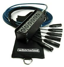 Whirlwind Medusa Elite Audio Snake MINI 6 MINI6, 15 ft ME-6-M-NR-015
