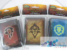 WoW WARCRAFT HORDE LANDRO AND ALLIANCE DECK PROTECTORS CARD SLEEVES