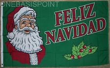 3'x5' Feliz Navidad Flag Merry Christmas Banner Santa Claus Holiday Pennant 3X5