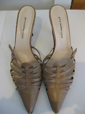 Great Sz  9.5 40 ½ Gary Castles Camel Designer Strappy 1950s Shoes