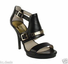 7M MICHAEL KORS JESS PLATFORM WOMENS BUCKLE ANKLE STRAP LOGO OPEN TOE SHOES