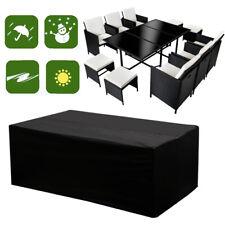 Garden Waterproof Rattan Modular Corner Sofa Furniture Set Rain Cover 6-8 Seater