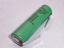 1 batteria  lamelle/alette SAMSUNG INR 18650 25R 2500 mAh 20/25A descharge 10C