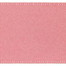 Berisfords Double Satin Ribbon 35 Colours 5 Widths 3 Lengths Dusky Pink#60 15mm X 2mtrs