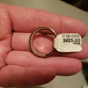 NWT SCOTT KAY 14k Inlay BioBlu27 Brawn Cobalt Men's designer Ring size 9 3/4 New