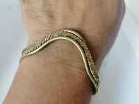 Very Stunning Rare Ancient Viking Bracelet Bronze Artifact Authentic