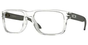 Oakley OX8156 Holbrook RX Designer Glasses Spectacle Frame  - Black/Brown/Clear