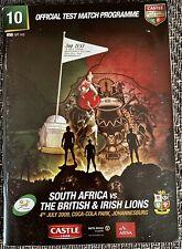 South Africa v British & Irish Lions 3rd Test 4 Jul 2009 PROGRAMME - Autographs
