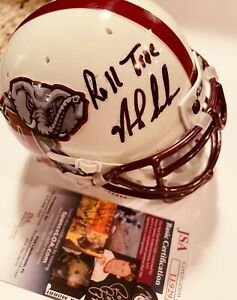 "Nick Saban signed #18 Alabama mini helmet inscribed ""ROLL TIDE"" Autographed JSA"