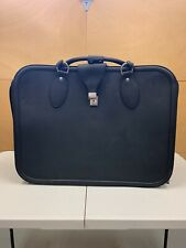 FERRARI LEATHER LUGGAGE MADE BY SCHEDONI. BRAND NEW WITH SMALL FLAWS.