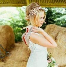 Blush Rosa, Rose Gold Nuziale Capelli Vine, Copricapo, swarovski perle matrimonio UK