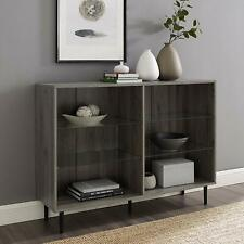 """Walker Edison 48"""" Modern Bookcase - Slate Grey New"""