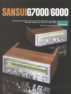 CD-R copy of rare brochure for the vintage Sansui G-7000 & G-6000 receivers