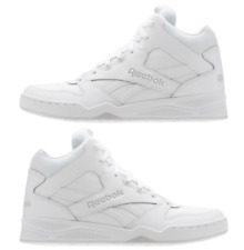 Reebok Men s Sneaker Basketball Shoe Athletic High-Top Leather Size 10 1 2  White 3b5400478