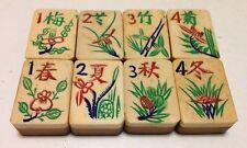 One set of 8 Tiles -Bone/Bamboo - MahJong - 1920s  - 8 Tile Set3