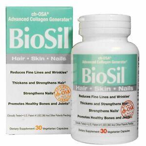BIOSIL Natural Factors BIOSIL Advanced Collagen Generator  30 Veg capsules