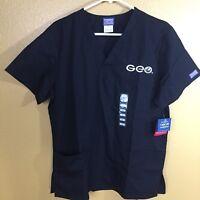 CHEROKEE~Unisex Short Sleeve Scrubs Shirt Size Sm. Black, New W/Tags