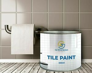 One Coat Tile Paint 500ml Gloss Satin Kitchens Bathrooms  All colours